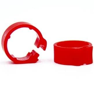 Knijpring blanco 5 rood