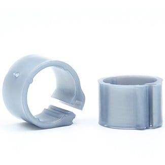 Knijpring blanco 8 zilver