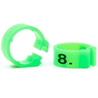 Knijpring genummerd 5 fluo groen