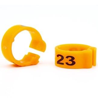 Knijpring genummerd 5 oranje