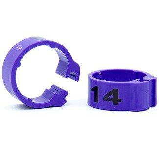Knijpring genummerd 5 violet