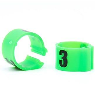 Knijpring genummerd 8 fluo groen
