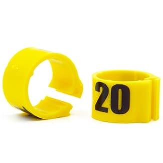Knijpring genummerd 8 geel