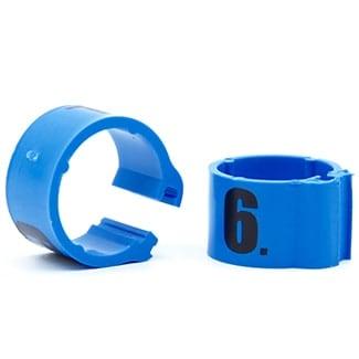 Knijpring genummerd 8 lichtblauw