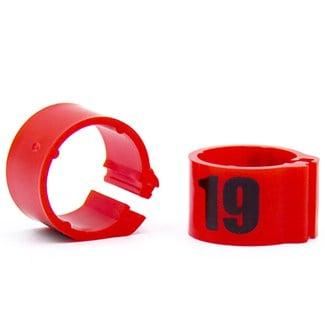 Knijpring genummerd 8 rood