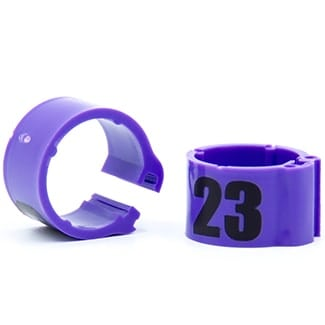 Knijpring genummerd 8 violet