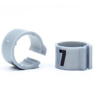 Knijpring genummerd 8 zilver