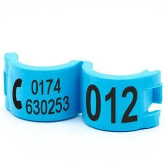 Lockring telefoonnummer + startnummer lichtblauw
