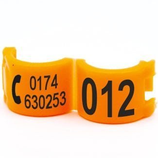 Lockring telefoonnummer + startnummer oranje