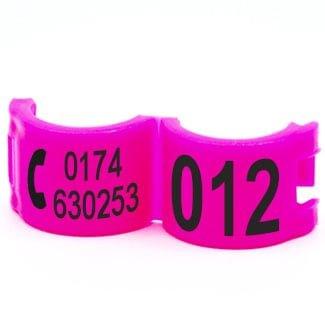Lockring telefoonnummer + startnummer roze