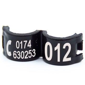 Lockring telefoonnummer + startnummer zwart
