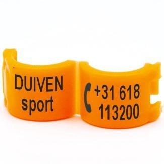 Lockring telefoonnummer + tekst fluo oranje