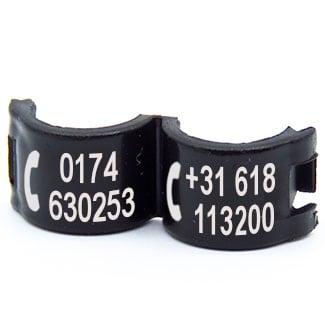 Lockring telefoonnummer(s) zwart