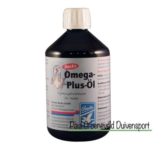 Backs Omega Plus Oil for pigeons
