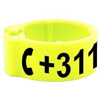 Knijpring telefoonnummer geel 5