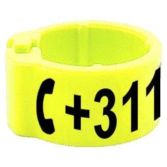 Knijpring telefoonnummer geel 8