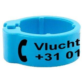 Knijpring telefoonnummer + gepersonaliseerd lichtblauw 5