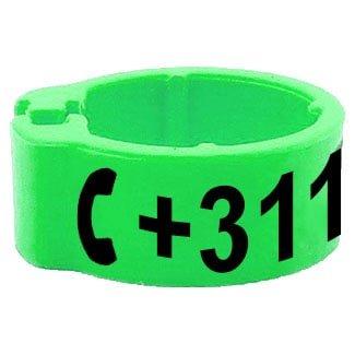 Knijpring telefoonnummer groen 5