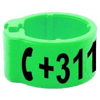 Knijpring telefoonnummer groen 8