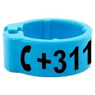 Knijpring telefoonnummer lichtblauw 5mm