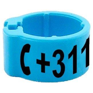 Knijpring telefoonnummer lichtblauw 8