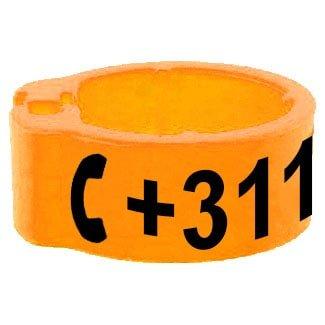 Knijpring telefoonnummer oranje 5