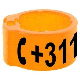 Knijpring telefoonnummer oranje 8