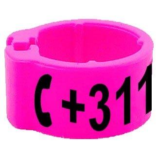 Knijpring telefoonnummer roze 8