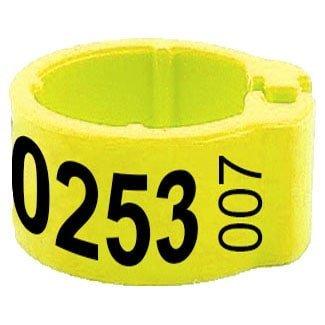 Knijpring telefoonnummer + startnummer geel 8