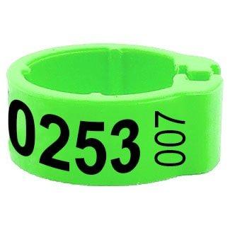 Knijpring telefoonnummer + startnummer groen 5