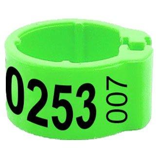 Knijpring telefoonnummer + startnummer groen 8