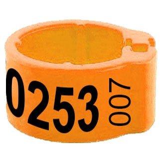 Knijpring telefoonnummer + startnummer oranje 8