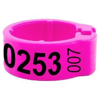 Knijpring telefoonnummer + startnummer roze 5