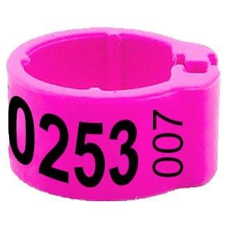 Knijpring telefoonnummer + startnummer roze 8
