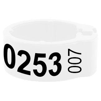 Knijpring telefoonnummer + startnummer wit 5