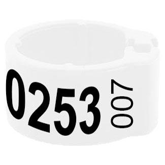 Knijpring telefoonnummer + startnummer wit 8