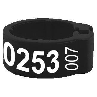 Knijpring telefoonnummer + startnummer zwart 5