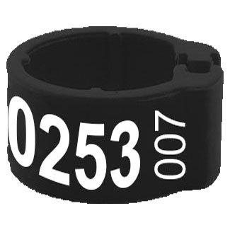 Knijpring telefoonnummer + startnummer zwart 8