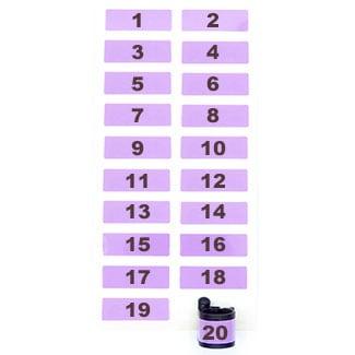 Ringlabel genummerd paars