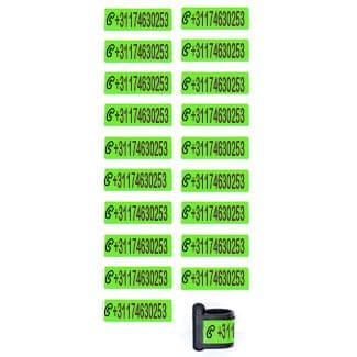 Ringlabel telefoonnummer groen